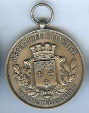 Médaille de prix-  MOULINS Allier 1885 exposition régionale industrielle d=51mm