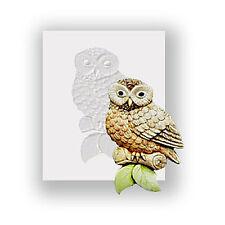 Silicona Molde-Little Owl-Plana respaldado Mini Escultura-alimentos seguros