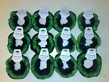 Accessory Job Lots 2 X Velvet With Lace Edging Hair Scrunchies Black