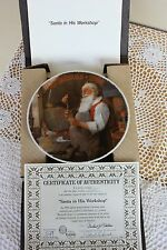 Knowles 1984 Rockwell Classic Collector Plate - Santa in his Workshop - Coa Box