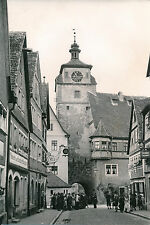 ALLEMAGNE c.1940 - Rue Calgengasse Tour de L'Horloge  Rothenburg  - DIV8381