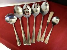 Stanley Roberts Rogers JEFFERSON MANOR Satin Stainless 7 SERVING PIECES L3