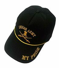 My Pride Daisy Indian Armed Forces Logos caps Indian Army Black