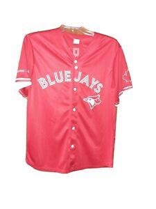 Russell Martin #55 Toronto Blue Jays Jersey Red Alternate Men's XL