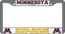 Minnesota Gophers Metal Chrome License Plate Tag Frame Cover University of