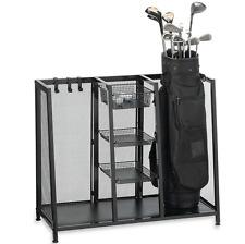 Golf Equipment Organizer Storage Club Rack Metal Two Bag Attractive Durable