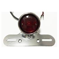 Motorcycle chrome Tail Brake Stop Light Lamp License Plate Harley chopper bobber