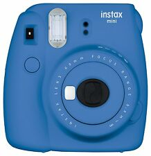 Fuji Instax Mini 9 Fujifilm Instant Film Camera Cobalt Blue  USA Model!