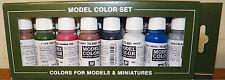VALLEJO ACRILIC 8 color model Paint Set for Civil War Weapons 17 mL. per bottle