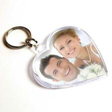 Personalised Custom Photo Gift Heart Keyrings Personalized