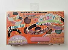 Hobby Do's Sticky Bracelets, 4 Bangles, Roll In Assorted Beads and Micro Beads