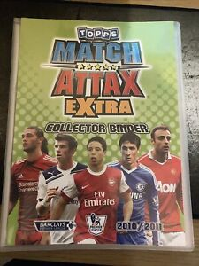 Rare Match Attax Extra 2010 11 Binder Album With 113 Different Cards