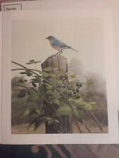 RAY HARM BLUEBIRD-FENCEPOST-$350 VALUE-$175 DISCOUNT-RARE-#107 OF 300-SPECIAL ED
