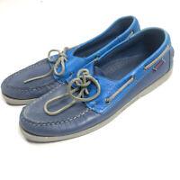Sebago Men's 10.5 Spinnaker Blue Boat Shoes Loafers Leather Docksides Lace Up k6