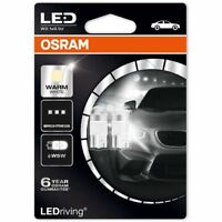 Osram LED W5W 12V Car Warm White Bulbs 4000K Wedge 501 2850WW-02B (Twin)