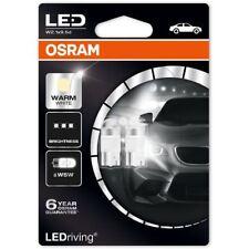 Osram LED W5W 12V Car Warm White Bulbs 4000K Wedge 501 2850WW-02B (Twin)