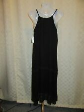 Sleeveless Lined  Long Dress size XS Old Navy color True Black 100% rayon viscos