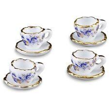 【Reuters Porcelain】 【Miniature】 Cup & Saucer 4-Pack Set Gold Onion RP 1354-5