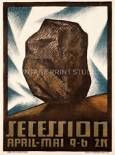 Austrian Secession, 1912 Exhibition Poster Vienna Giclee Canvas Art Print 20x27
