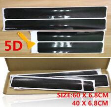 4x Accessories Carbon Fiber Car Scuff Plate Door Sill 5D Sticker Protector
