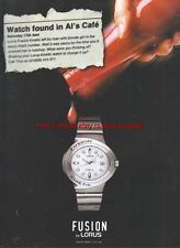 Lorus Fusion Watch 2000 Magazine Advert #4240