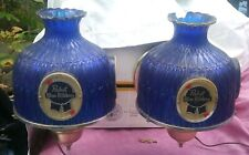 Lot of 2 Vintage Pabst Blue Ribbon Beer Electric Wall Sconce Light Lamp Bar Sign