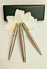 PARKER 45 USA Fountain Pen BRUSHED STAINLESS STEEL+2 Ballpoint pen