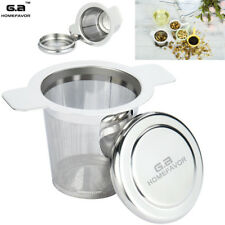 Stainless Steel Tea Infuser Strainer Filter Steeper with Lid for Teapot Kettle