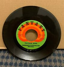 """CREEDENCE CLEARWATER REVIVAL 45 RPM (FANTASY Records) """"TRAVELIN BAND"""" (A35)"""