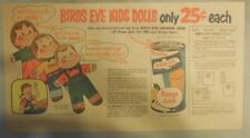 """Birds Eye Juice Kids Dolls Premiums"" 1960's Size: 7.5  x 15 inches"