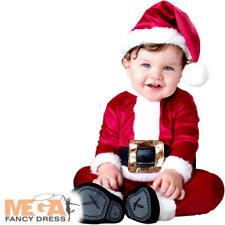 Baby Santa Boys Fancy Dress Festive Father Christmas Kids Infant Toddler Costume