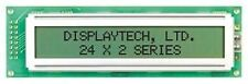Displaytech 242A-BC-BC Alphanumeric LCD Display, Yellow on Green, 2 Rows by 24 C
