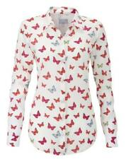 Pure Collection Washed Silk Blouse - Butterfly Print - Size: UK 16 - RRP £130