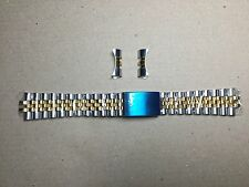 19MM JUBILEE WATCH REPLACEMENT BRACELET FOR ROLEX TUDOR GOLD/SS TWO-TONE BAND