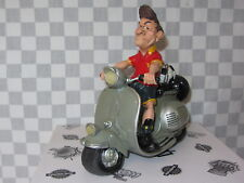 RESIN CARICATURE FOOTBALL SCOOTER THE COMICAL WORLD A B GEE # WS 60643