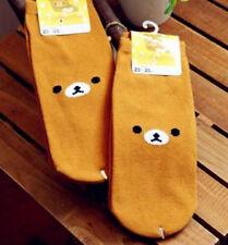 FD4305 Cartoon Rilakkuma San-X Relax Bear Cotton Soft Socks 23-25cm 1 Pair