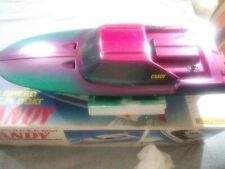 VINTAGE, VERY NICE, CANDY HIGH SPEED R/C.E.P. BOAT-BOX