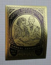 Womens Intl Stamp Club NY 1958 Annual Expo Souvenir Label Ad