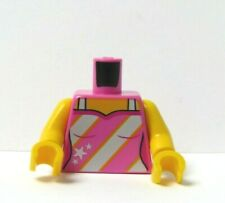 LEGO 1  Body Torso For Female Girl  Minifigure Figure  Pink White Stripy Vest
