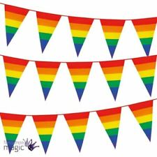 Rainbow 6-10 m Party Banners, Buntings & Garlands
