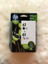 HP GENUINE COMBO PACK 61 BLACK / TRI COLORS INK (RETAIL BOX) 03/2019