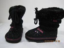 New!! Skechers Twinkle Toe Keepsake Boot for Girls Toddler Black  77L