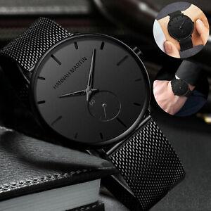 Men Quartz Watch Relojes De Hombre Minimalist Ultra Thin Stainless Steel Watches