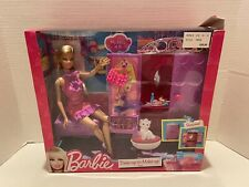 Barbie Dress Up to Make Up Closet Doll Furniture Wardrobe Purse Shoes Armoire