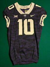 TCU Texas Christian University Game Worn Purple Frogskin NIKE Jersey #10 Sz40