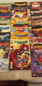 """BD MARVEL COMICS """"SPIDER-MAN"""" 18 n° de 1991 à 97 + 2 """"SPIDER-MAN EXTRA"""" 3 & 4"""