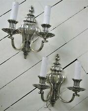 Beautiful Antique Silver Classical Sconces