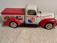 Pepsi Cola Vintage 1940 Ford Truck Diecast Red & White Golden Wheel