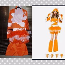 Ladies Clownfish Finding Nemo  Fancy Dress Costume Small 8 Adults New Hen Party