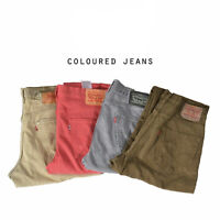 LEVIS COLOURED JEANS DENIM GRADE A W30 W32 W34 W36 W38 W40